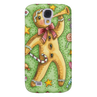 Caso del iPhone del navidad del hombre de pan de j Funda Samsung S4