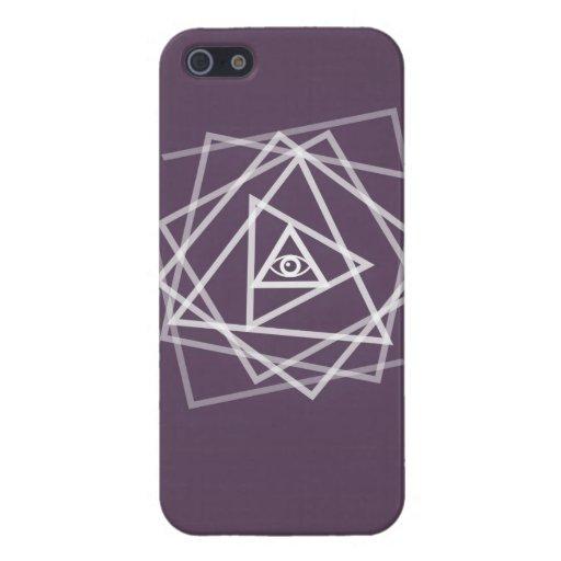 Caso del iPhone del ojo de Illuminati iPhone 5 Protector