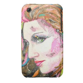 Caso del iphone del ónix de PMACarlson Rollergirl iPhone 3 Fundas
