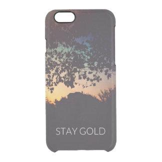 Caso del iPhone del oro de la estancia Funda Clear Para iPhone 6/6S