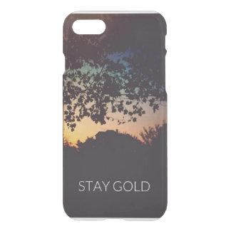 Caso del iPhone del oro de la estancia Funda Para iPhone 7