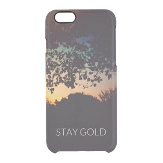 Caso del iPhone del oro de la estancia Funda Transparente Para iPhone 6/6S