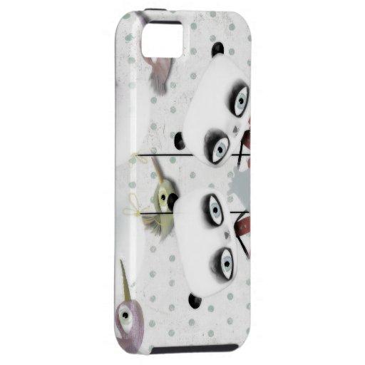 Caso del iphone del oso de panda iPhone 5 funda
