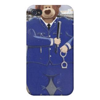 Caso del iPhone del oso de peluche de la policía iPhone 4 Cárcasas