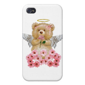 Caso del iPhone del oso de peluche del ángel iPhone 4 Funda