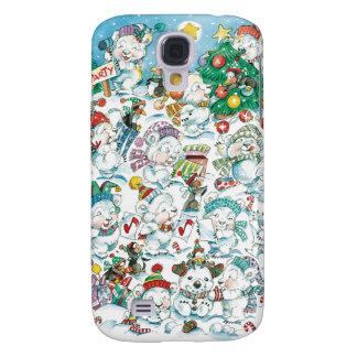 Caso del iPhone del oso de peluche del navidad del Samsung Galaxy S4 Cover