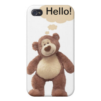 Caso del iPhone del oso de peluche iPhone 4/4S Carcasa