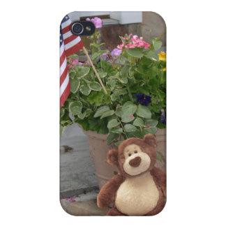 Caso del iPhone del oso de peluche iPhone 4 Protector