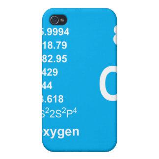 Caso del iPhone del oxígeno luz en azul iPhone 4 Cárcasas