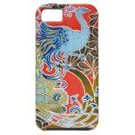 Caso del iPhone del pájaro de Nouveau del arte iPhone 5 Case-Mate Cárcasa