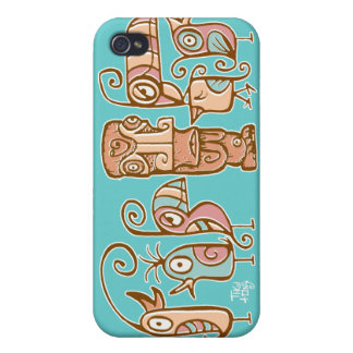 caso del iPhone del pájaro de Tiki de los años 60  iPhone 4 Carcasas