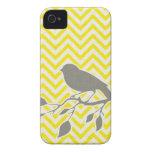 Caso del iPhone del pájaro y de Chevron iPhone 4 Fundas