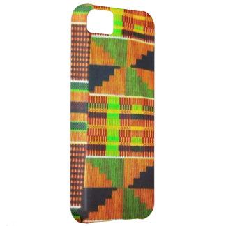 Caso del iPhone del paño del fango de Kente Funda Para iPhone 5C