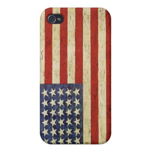 Caso del iPhone del patriota con la bandera americ iPhone 4/4S Funda