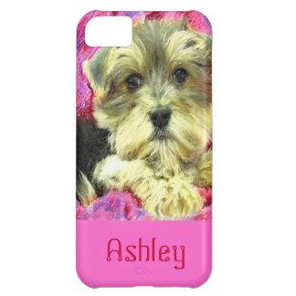 Caso del iphone del perrito de Morkie Carcasa iPhone 5C
