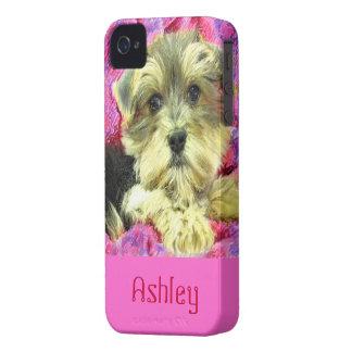 Caso del iphone del perrito de Morkie Funda Para iPhone 4 De Case-Mate