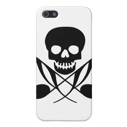 Caso del iPhone del pirata de la música iPhone 5 Carcasas