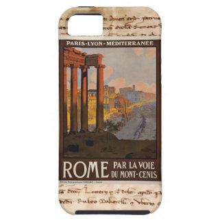 Caso del iPhone del poster del viaje de Roma iPhone 5 Case-Mate Cobertura