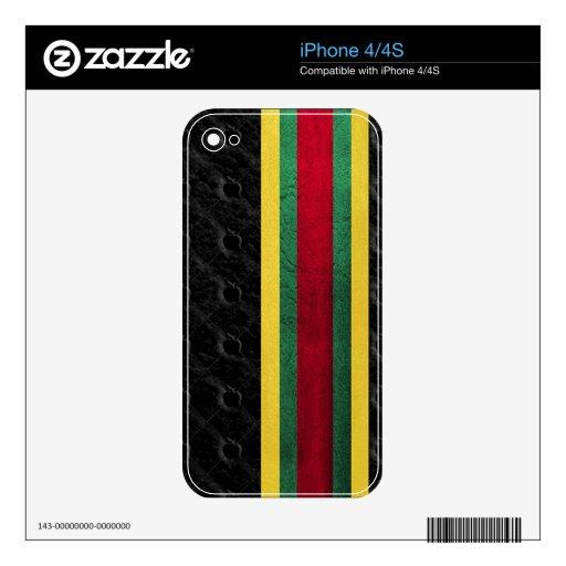 Caso del iphone del reggae iPhone 4S calcomanía