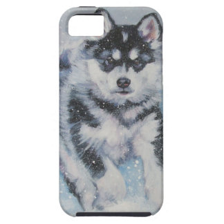 Caso del iphone del retrato del perro del Malamute iPhone 5 Carcasa