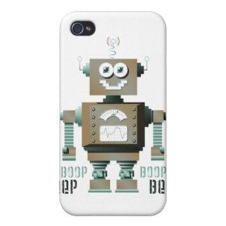 Caso del iPhone del robot del juguete de la señal  iPhone 4 Fundas