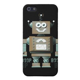 Caso del iPhone del robot del juguete de la señal  iPhone 5 Protectores