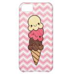 Caso del iphone del rosa del cono de helado de Kaw