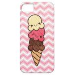 Caso del iphone del rosa del cono de helado de Kaw iPhone 5 Cárcasas