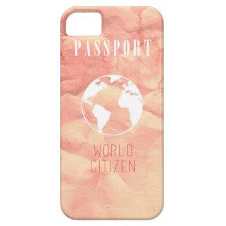 Caso del iPhone del rosa del pasaporte del iPhone 5 Funda