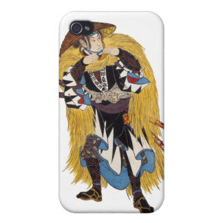 Caso del iphone del samurai iPhone 4 protector