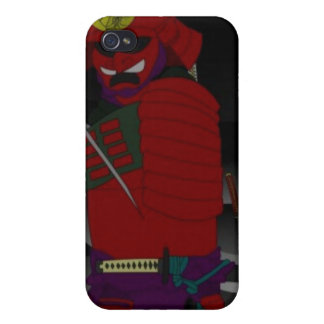 caso del iphone del samurai iPhone 4 protectores
