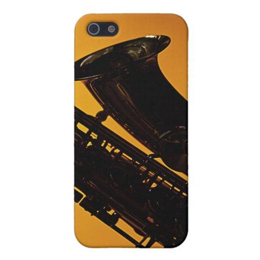 Caso del iphone del saxofón iPhone 5 protectores