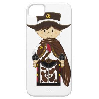 Caso del iphone del sheriff del vaquero del poncho funda para iPhone SE/5/5s