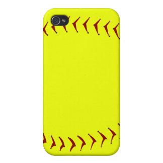 Caso del iPhone del softball de Fastpitch iPhone 4 Carcasas