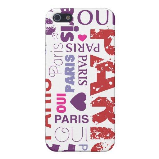 Caso del iphone del t'aime del je de Oui París iPhone 5 Protector