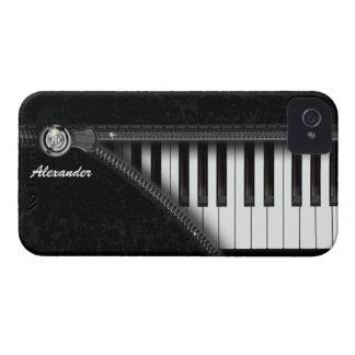 Caso del iPhone del teclado de piano de cuatro iPhone 4 Case-Mate Cárcasas