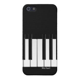 Caso del iPhone del teclado de piano iPhone 5 Fundas