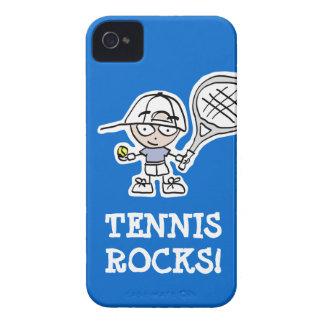 Caso del iphone del tenis para los muchachos iPhone 4 Case-Mate coberturas