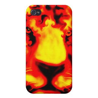 caso del iPhone del tigre del fuego iPhone 4/4S Funda