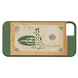 Caso del iphone del tughra del sultán del otomano funda para iPhone 5 barely there