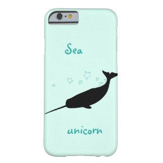 Caso del iPhone del unicornio del mar Funda Para iPhone 6 Barely There