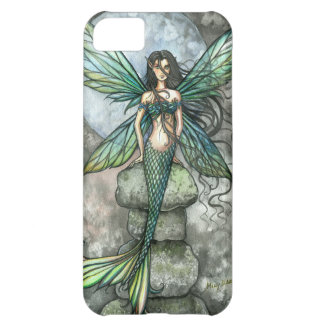 Caso del iPhone del verde de hadas de la sirena