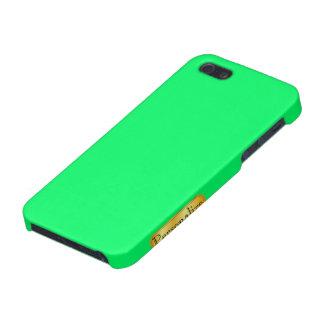 Caso del iphone del verde esmeralda con el nametag iPhone 5 coberturas