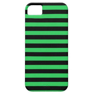 Caso del iPhone del verde y de las rayas negras Funda Para iPhone 5 Barely There