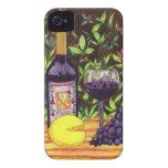 Caso del iPhone del vino y del queso Case-Mate iPhone 4 Fundas
