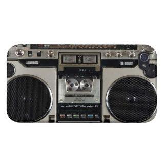 Caso del iPhone del vintage de Boombox iPhone 4 Funda