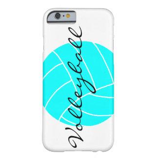 Caso del iPhone del voleibol de la aguamarina Funda Para iPhone 6 Barely There
