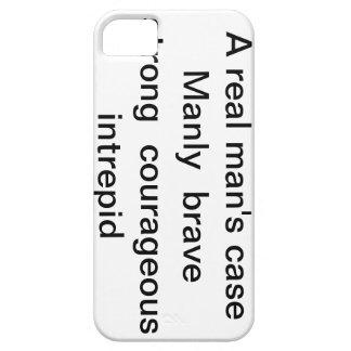 """caso del iphone """"el caso de un hombre real """" iPhone 5 funda"""