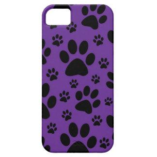 caso del iphone, impresiones púrpuras de la pata,  iPhone 5 carcasa