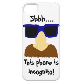 Caso del iPhone incógnito 5 del bigote y de los vi iPhone 5 Case-Mate Carcasas